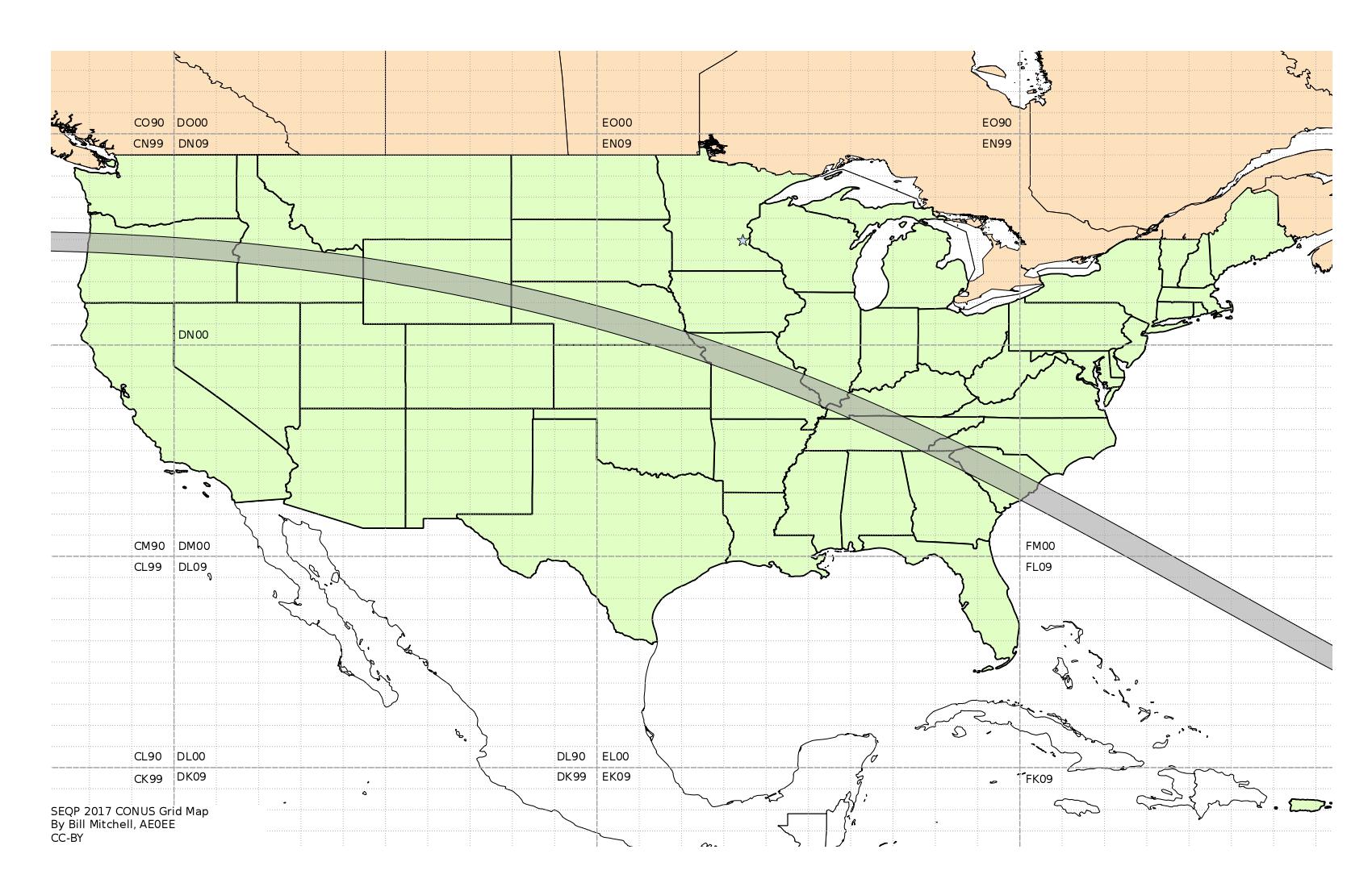 Solar Eclipse QSO Party Grid Maps Bloomington Amateur Radio